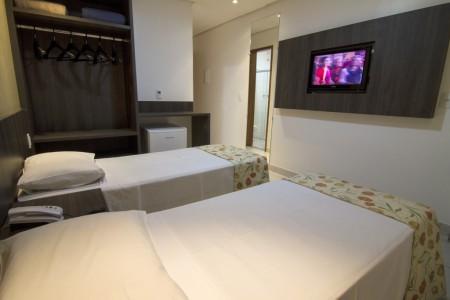 Apartamentos com TV, Frigobar e Ar-condicionado